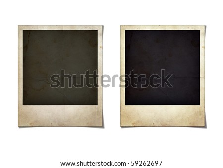 Old Photo Frames - stock photo