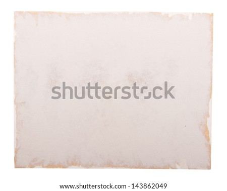 Old photo paper edge as a photo frame, isolated on white - stock photo