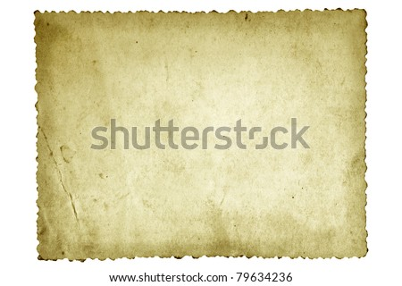Old photo paper, with scalloped edge. - stock photo