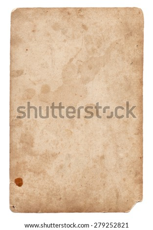 Old photo vintage texture with stains and scratches isolated - stock photo