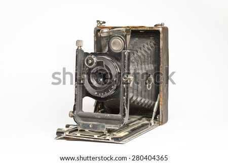 Old photocamera - stock photo