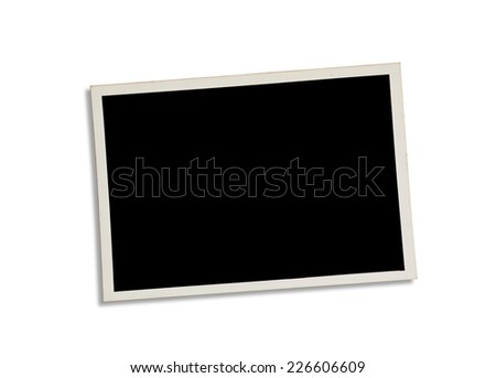 Old photograph isolated on white background. Clipping path excludes the shadow.