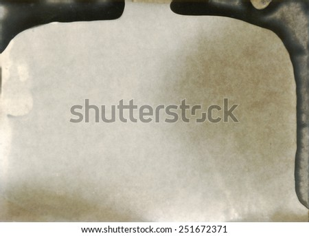 old photographic paper - bad developed - layer for photo editor - stock photo