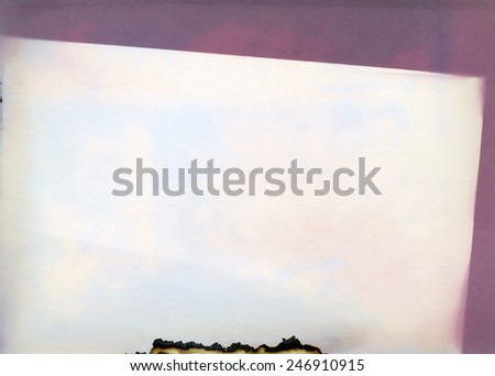 old photographic paper - layer - mask -  for photo editor - stock photo