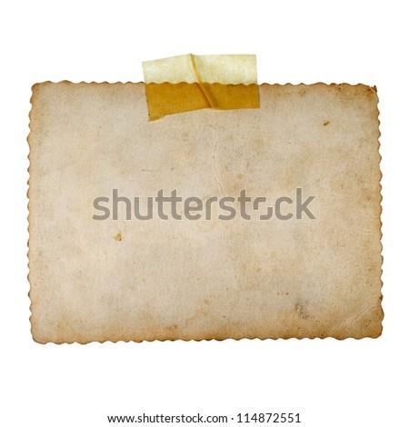 Old photos on white background - stock photo