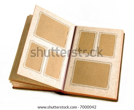 Old picture album. In it usually store family photos - stock photo