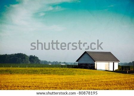 Old Picture Design - American Country - stock photo