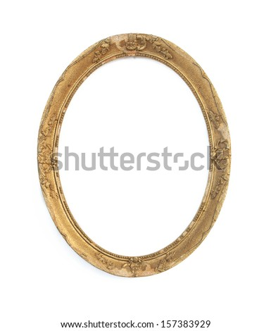 old picture frame - stock photo