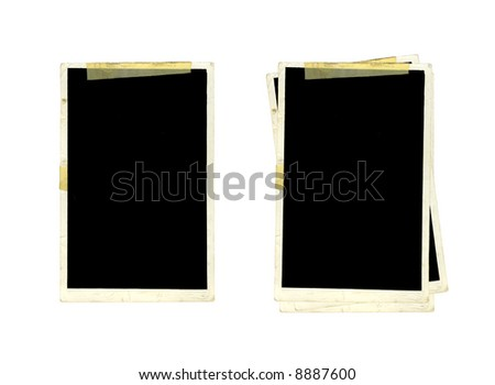 Old Picture Frames - stock photo