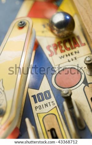Old pinball playng - stock photo