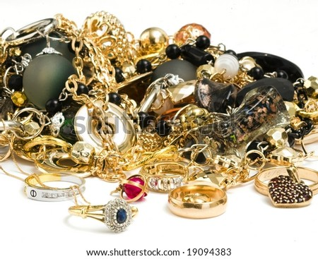 Old pirate treasure - stock photo