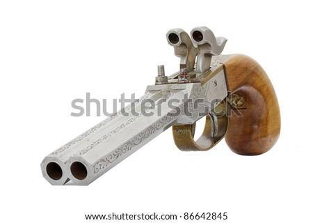 old pistol - stock photo