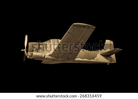 old plane isolated - stock photo