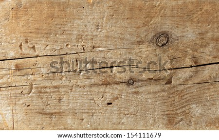 old plank of wood