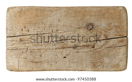 old plank of wood - stock photo