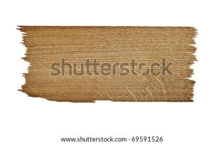 Old plank of wood. Isolated on white background - stock photo