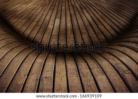 Old planks retro style wood background - stock photo