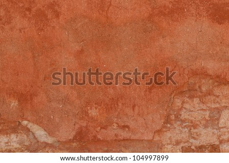 Old plaster wall texture background in Venice, Italy. - stock photo