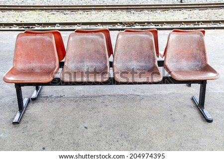 Old plastic chairs - stock photo