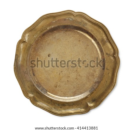 Old plate - stock photo