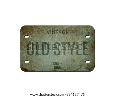 Old plate. Vintage plate isolated - stock photo