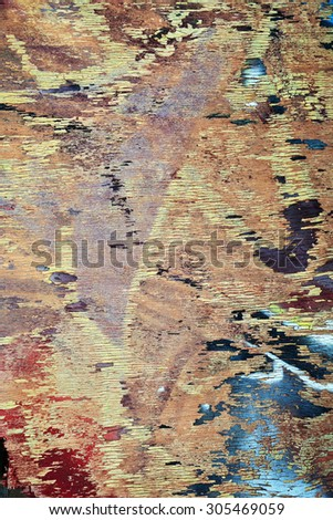 old plywood - stock photo