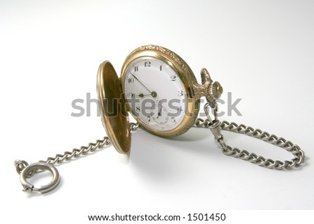 Old pocketwatch - stock photo