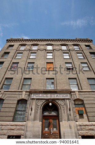 stock-photo-old-police-station-in-downto