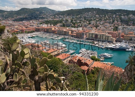 Old Port of Nice, France - stock photo
