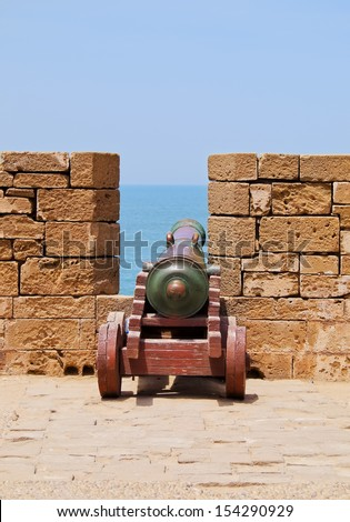 Old Portuguese Cannon in Essaouira Fortress, Morocco, Africa