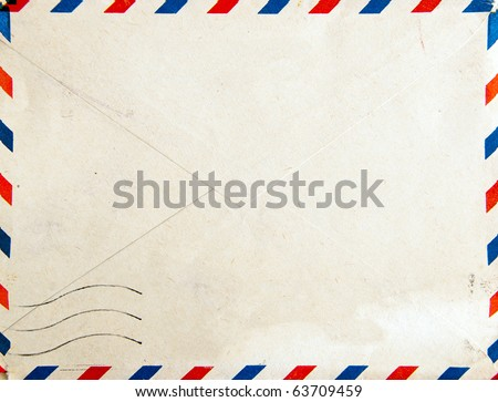 Old post envelope, background - stock photo