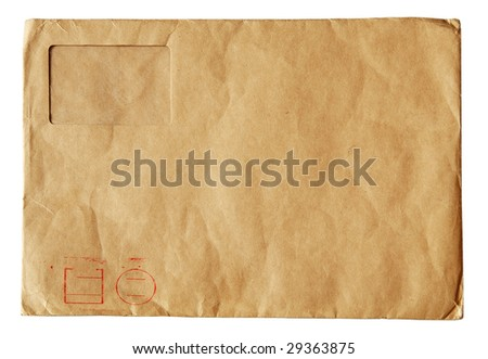 old post folder isolated on white background with clipping path - stock photo