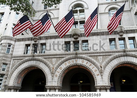 Old Post Office building, Washington DC, United States - stock photo