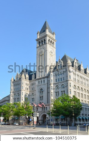 Old Post Office in Washington DC United States - stock photo