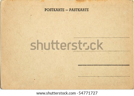old postcard - stock photo