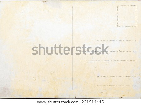 Old postcard background or texture vintage - stock photo