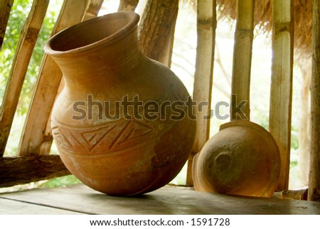 Old Pottery - stock photo