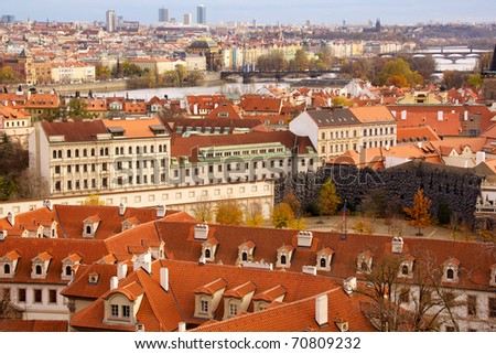 Old Prague city view Czech
