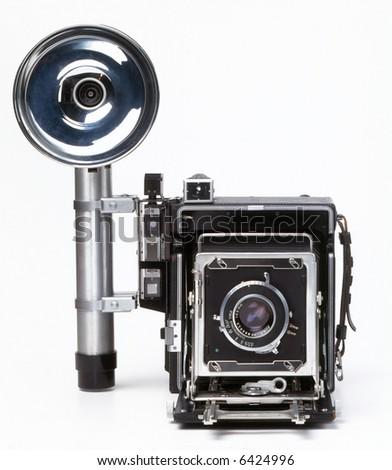 Old Press Camera - stock photo