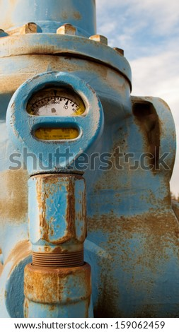 Old pressure valve  - stock photo