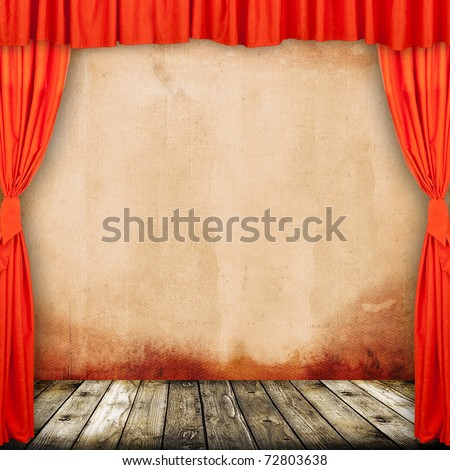 old provincial theater, photo concept - stock photo