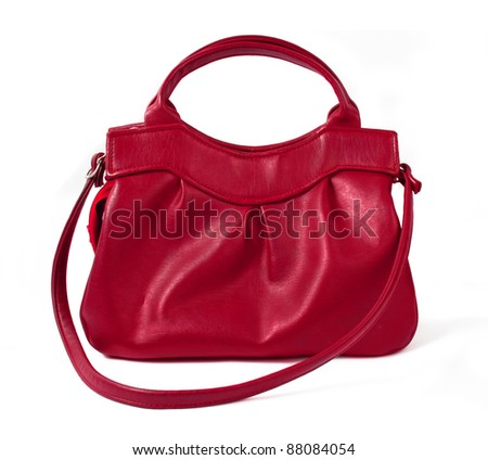 old purse isolated over white background