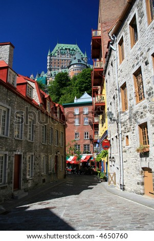 Old Quebec City - stock photo