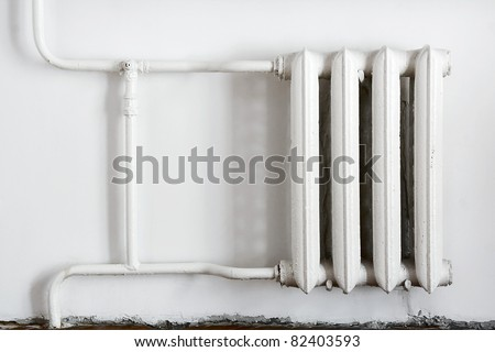 Old radiator - stock photo