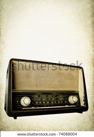 old radio background - stock photo