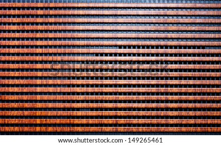 Old radio front speakers panel texture - stock photo