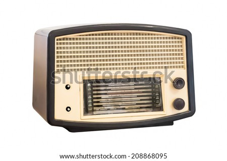 Old radio. Realistic illustration of an old radio receiver of the last century.