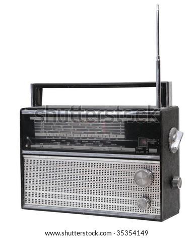 old radio receiver - stock photo