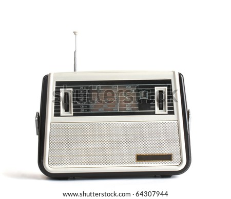 old radio receiver present you hobby musical part - stock photo