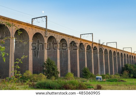 Old railway bridge at golden hour